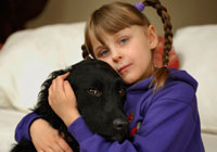 Dogs alert one on allergy danger: Nine Ways How Special Dogs are Helping Children with Special Needs