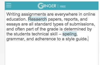 Ginger Proofreading