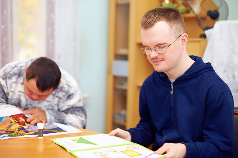 disabilities College adults with reading